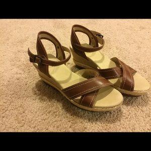 LL Bean wedge sandals